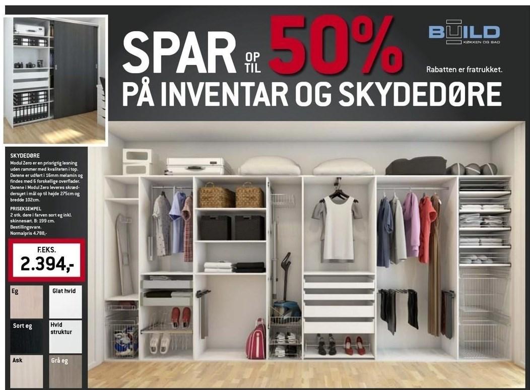 Spar op til 50% på inventar og skydedøre