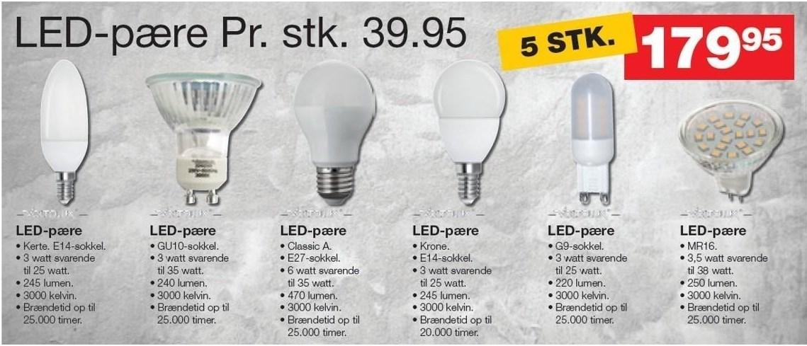 LED-pære 5 stk.