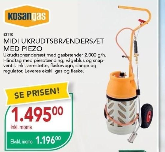 Midi Ukrudtsbrændersæt med Piezo