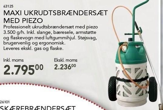 Maxi Ukrudtsbrændersæt Med Piezo