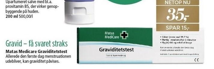 Matas Medicare Graviditetstest