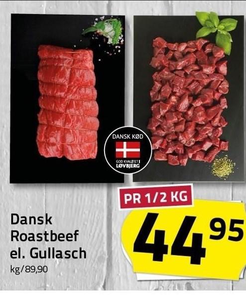 Dansk roastbeef eller gullach