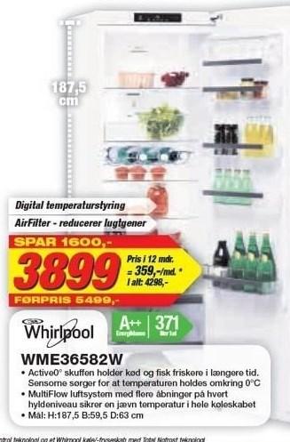 Whirlpool Køleskab