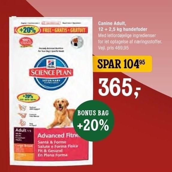 Canine Adult 12 + 2 kg hundefoder