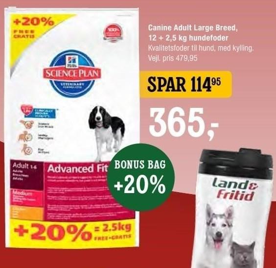 Canine Adult Large Breed, 12 + 2 kg hundefoder