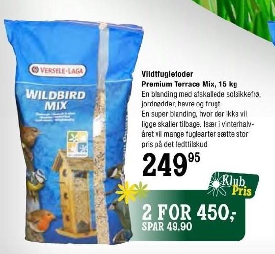 Vildtfuglefoder Premium Terrace Mix, 15 kg