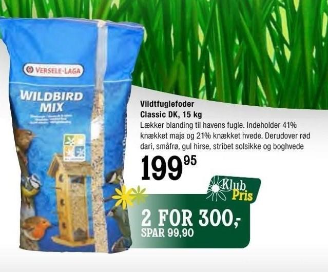Vildtfuglefoder Classic DK, 15 kg