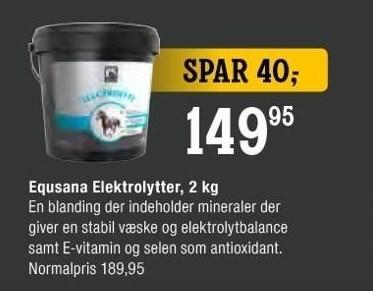 Equsana Elektrolytter, 2 kg
