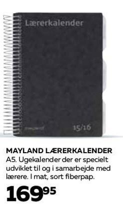 Mayland lærerkalender