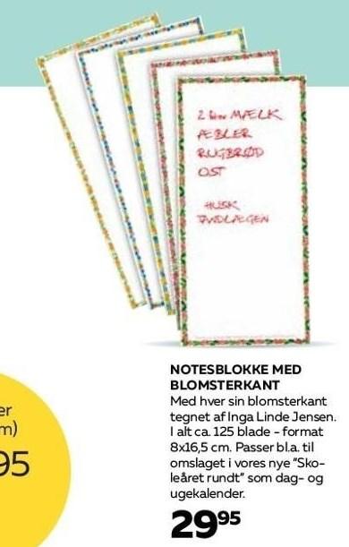 Notesblokke med blomterkant