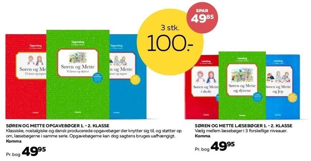 Søren og Mette opgavebøger 3 stk.