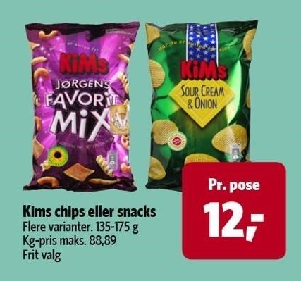 Kims chips eller snacks