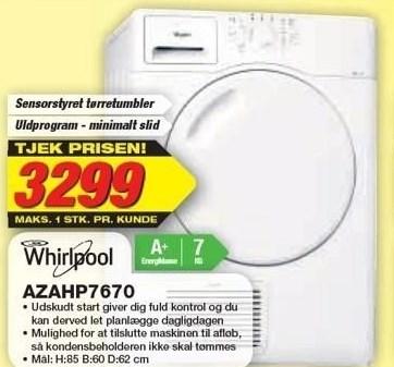 Whirlpool sensorstyret tørretumbler