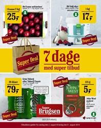 SuperBrugsen: Gyldig t.o.m lør 8/8