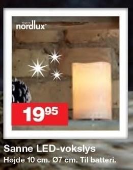 Sanne LED-vokslys