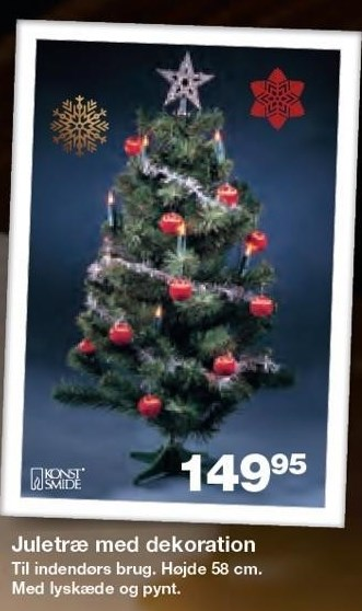 Juletræ med dekoration