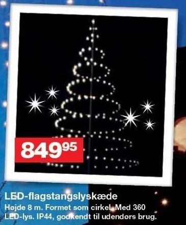 LED-flagstangslyskæde