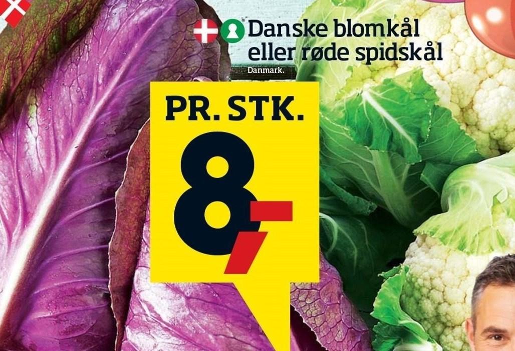 Danske blomkål eller røde spidskål
