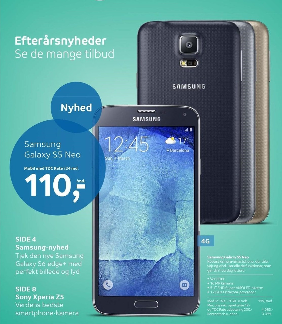 Samsung Galaxy S5 Neo med TDC Rate i 24 mdr.