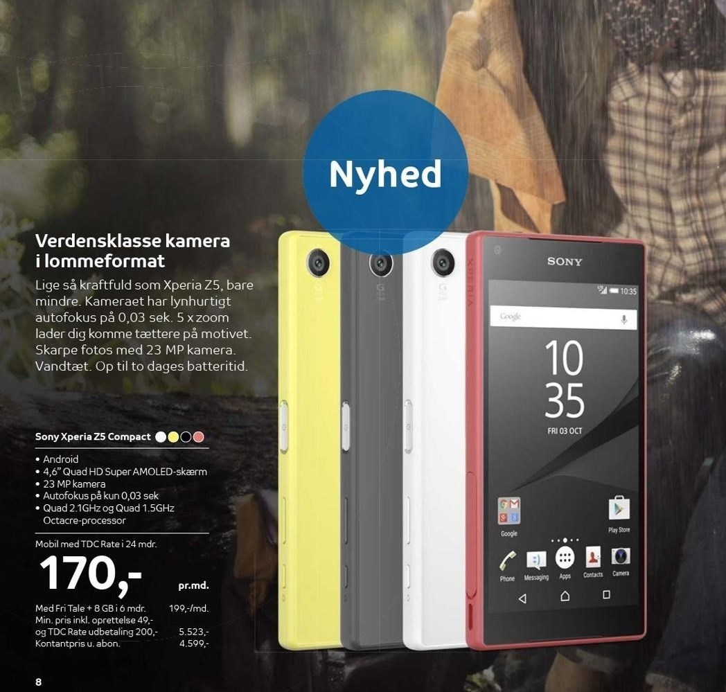 Sony Xperia Z5 Compact med TDC Rate i 24 mdr.