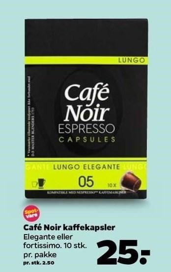 Café Noir kaffekapsler