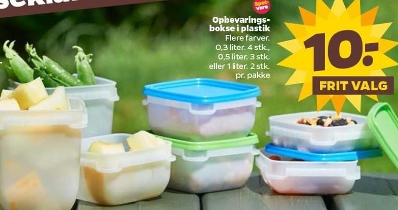 Opbevaringsbokse i plast