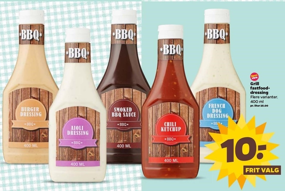Grill fastfood dressing