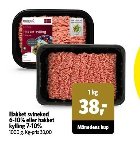 Hakket svinekød 6-10 %
