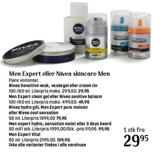 Men Expert eller Nivea skincare Men