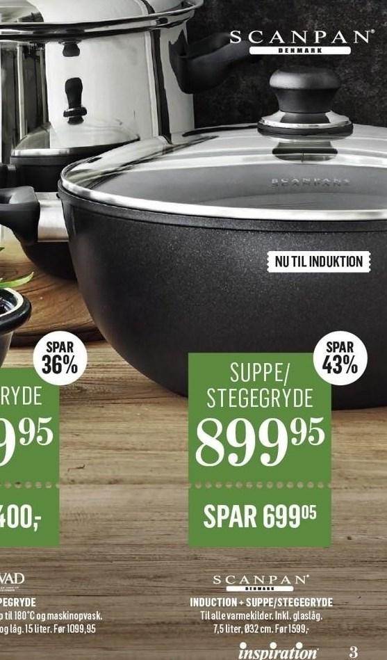 Induction + suppe/stegegryde