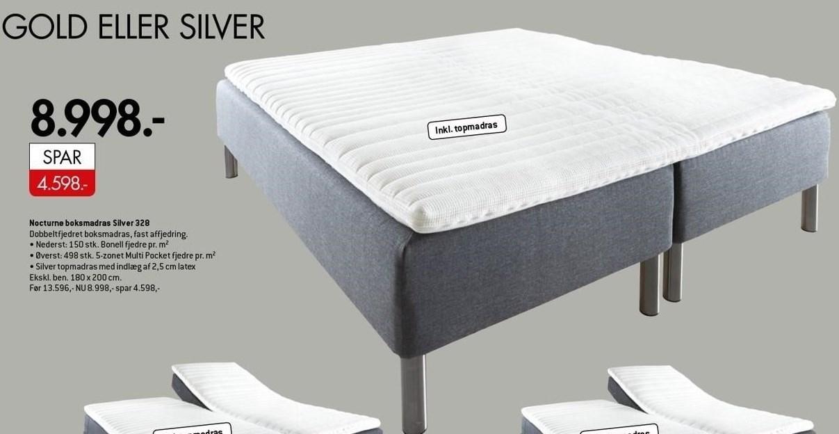 Nocturne boksmadras Silver 328