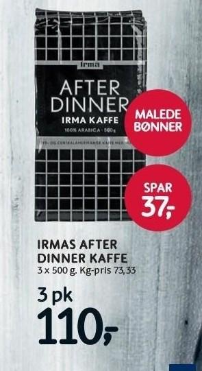 Irmas After Dinner kaffe 3 pakker