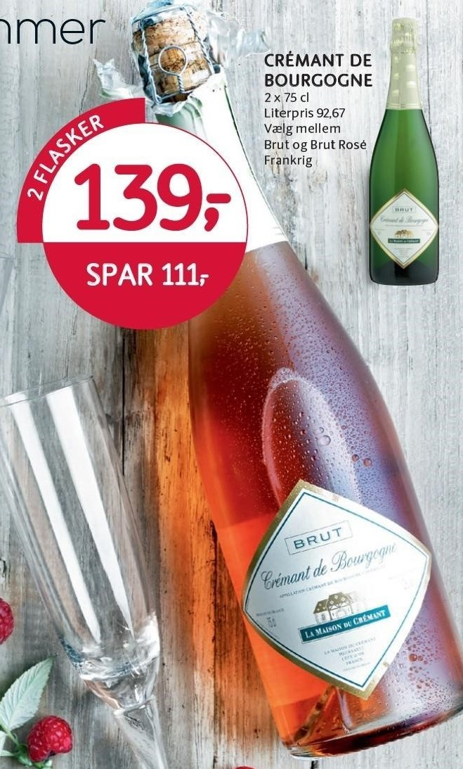 Crémant de Bourgogne 2 flasker