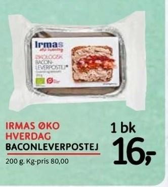 Irmas økohverdag - baconleverpostej