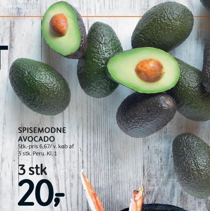 Spidemodne avocado 3 stk