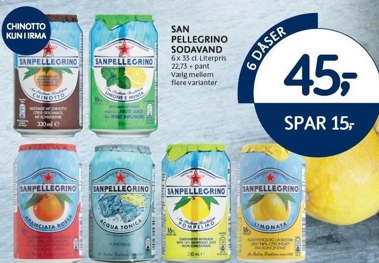 San Pellegrino sodavand 6 dåser