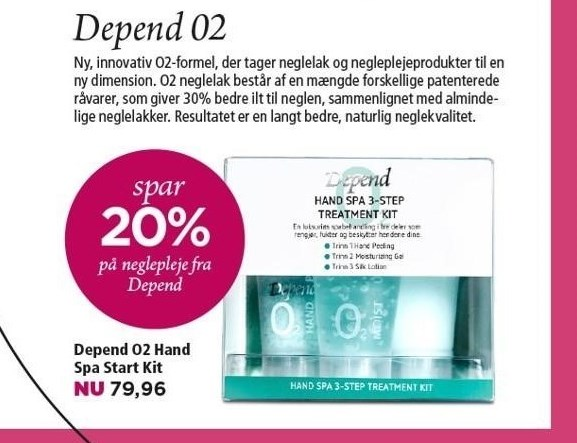 Depend O2 Hand Spa Star Kit
