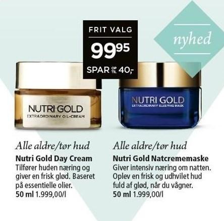 Nutri Gold Day Cream eller Natcrememaske