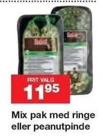 Mix pak med ringe eller peanutpinde
