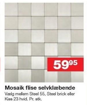 Mosaik flise selvklæbende