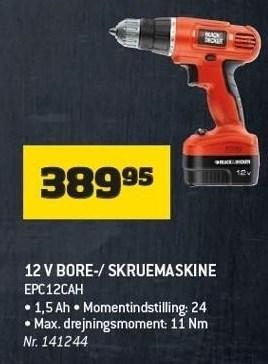 12 V Bore-/skruemaskine