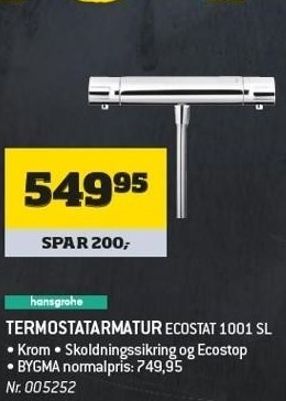 Termostatarmatur Ecostat 1001 SL