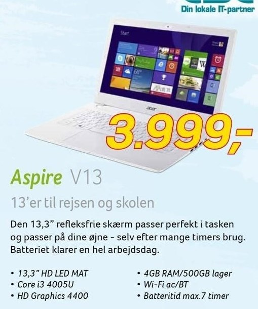 Acer 13,3