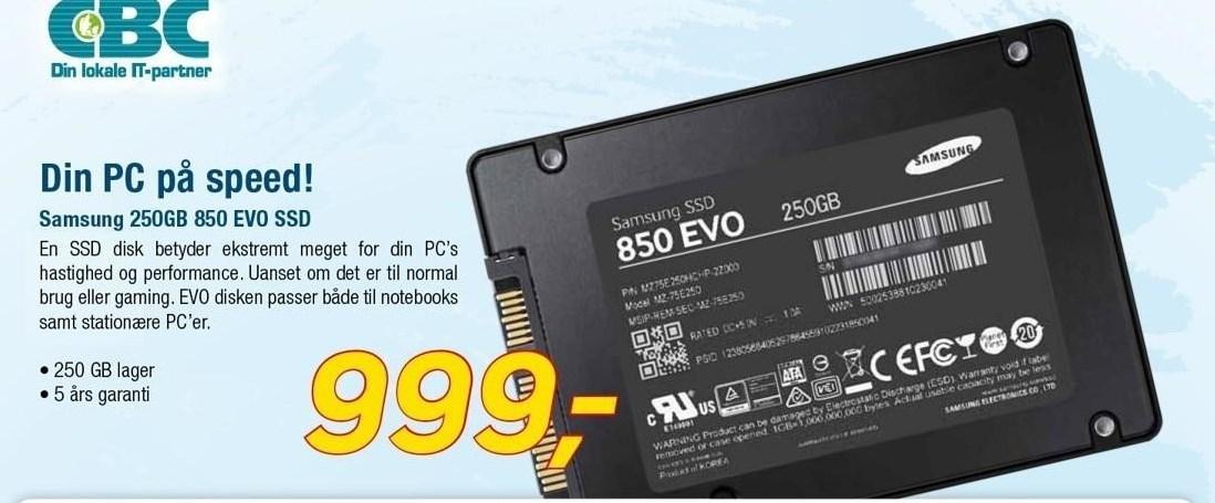 Samsung 250GB SSD disk