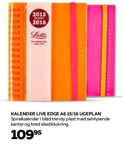 Kalender Live Edge A6 15/16 ugeplan
