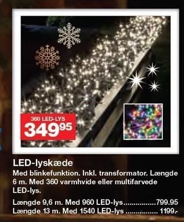 LED-lyskæde m. blinkefunktion