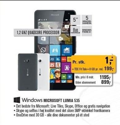 Windows Microsoft Lumia 535