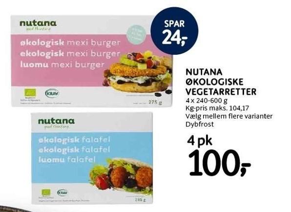 Nutana økologiske vegetarretter, 4 pk.