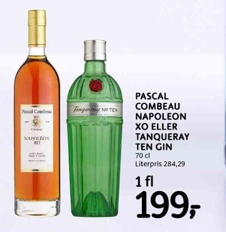 Pascal Combeau Napoleon XO eller Tanqueray Ten Gin