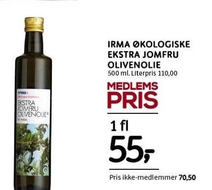 Irma økologiske ekstra jomfru olivenolie